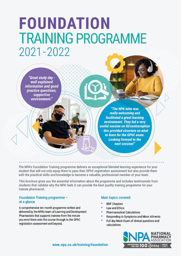 Foundation training programme brochure